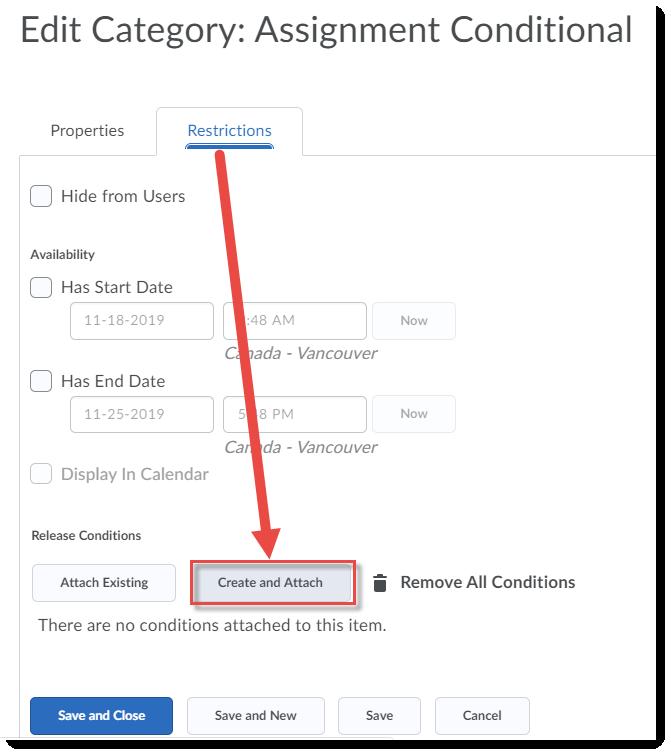 Click Create and Attach