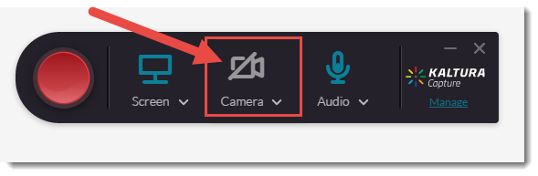 Click Camera to turn that feature off.