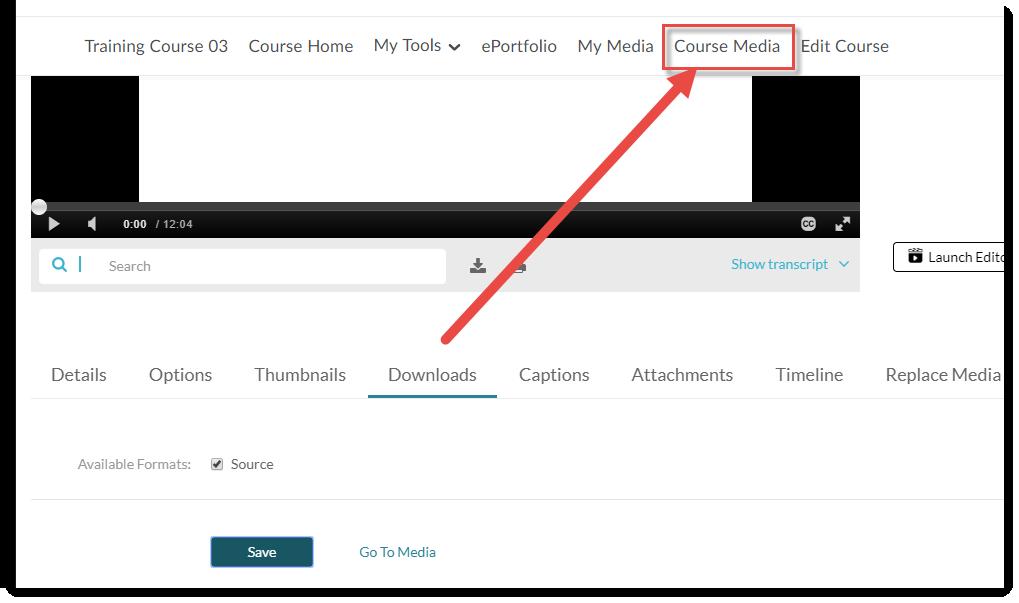Click Course Media.