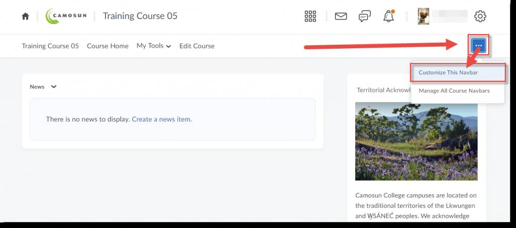 Select Customize or Edit this Navbar