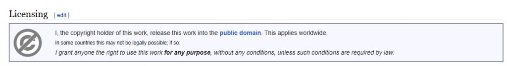Public Domain notice